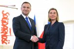 Polish president meets EU foreign policy chief