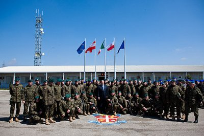 President pays visit to Polish soldiers in Kosovo